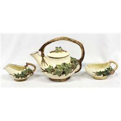 Vintage McCoy Teapot, Creamer, & Sugar Bowl