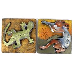 Pair of Southwestern Metal Art Pictures
