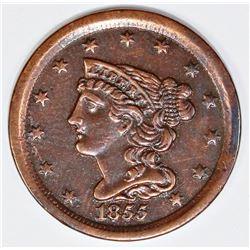 1855 HALF CENT