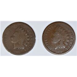 1872 INDIAN CENT AND 1872 CENT