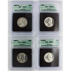(4) WASHINGTON QUARTERS: ALL ICG