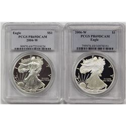 2004-W AND 2006-W AMERICAN SILVER EAGLES
