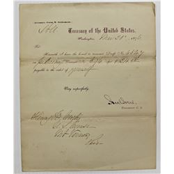 (2) 1876 UNITED STATES TREASURY LETTERS