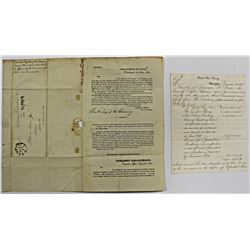 1865 UNITED STATES TREASURY LETTER