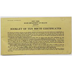 BOOK OF 1930'S BIRTH CERTIFICATES