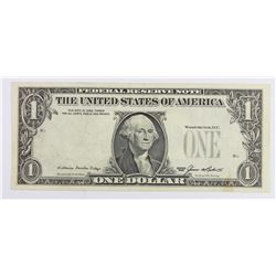 1985 $1.00 FEDERAL RESERVE ERROR NOTE!