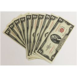 (10) 1953-B $2.00 U.S. NOTES