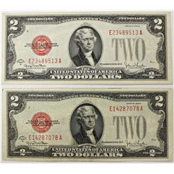 2 PCS 1928-G $2.00 LEGAL TENDERS