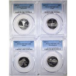 4-2007-S STATE QUARTERS, PCGS PR-70 DCAM