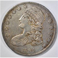 1834 BUST HALF DOLLAR, AU