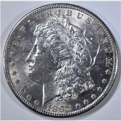 1897-S MORGAN DOLLAR, BU