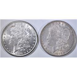 1896 & 1900 MORGAN DOLLARS, CH BU