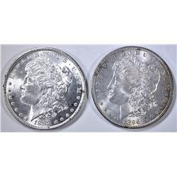 1888 & 1896 MORGAN DOLLARS, CH BU