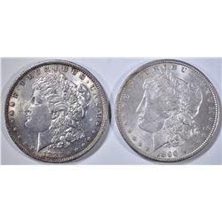 1885 & 1896 MORGAN DOLLARS, BU