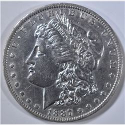 1887/6-O MORGAN DOLLAR   CH AU