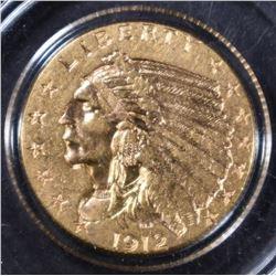 1912 $2.5 GOLD INDIAN  BU