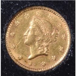 1853 GOLD DOLLAR   AU