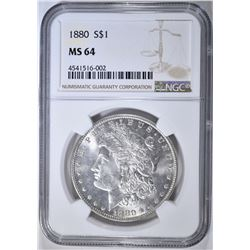 1880 MORGAN DOLLAR  NGC MS-64