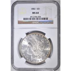 1882 MORGAN DOLLAR  NGC MS-64