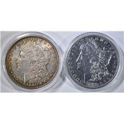 2 1880-O MORGAN DOLLARS   AU/BU