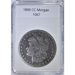 1890-CC MORGAN DOLLAR  VG CLEANED