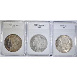 2- 1921 & 1921-D MORGAN DOLLARS