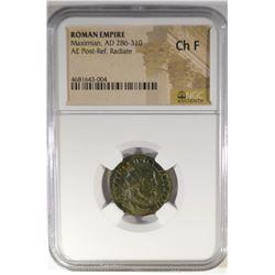 AD 286-310 MAXIMIAN  ROMAN EMPIRE NGC CH F