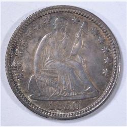 1850 SEATED HALF DIME  GEM  ORIGINAL UNC.