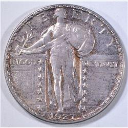 1927-S STANDING LIBERTY QUARTER  CH ORIG. UNC.