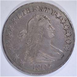 1805/4 DRAPED BUST HALF DOLLAR  CH AU