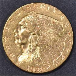 1928 $2.5 GOLD INDIAN  CH BU