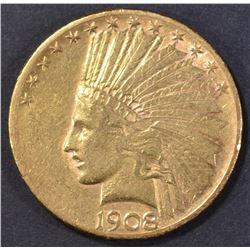 1908-S $10 GOLD INDIAN  AU