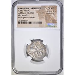420-380 BC AR STATER  NGC CH VF