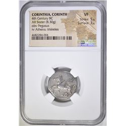 4TH CENTURY BC  AR STATER NGC VF