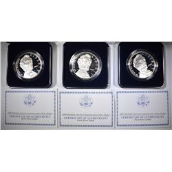 3-2009 ABE LINCOLN PROOF COMMEM SILVER DOLLARS