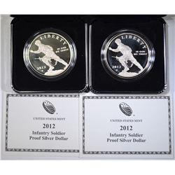 2-2012 INFANTRY SOLDIER Pf COMMEM SILVER DOLLARS