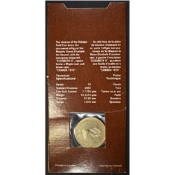 1976 $100 CANADA OLYMPIC GOLD COIN ORIG PACKAGING