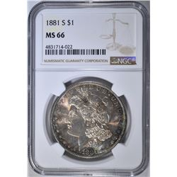 1881-S MORGAN DOLLAR  NGC MS-66
