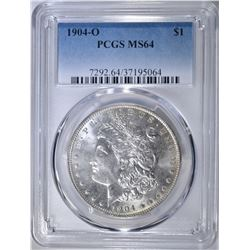 1904-O MORGAN DOLLAR  PCGS MS-64