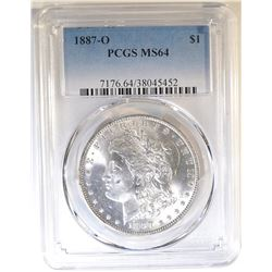 1887-O MORGAN DOLLAR  PCGS MS-64
