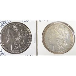 1887-S VF & 1892 VF MORGAN DOLLARS