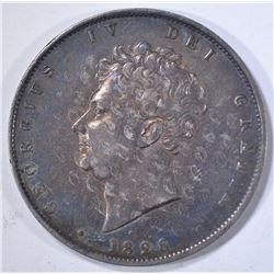 1826 SILVER 1/2 CROWN ENGLAND