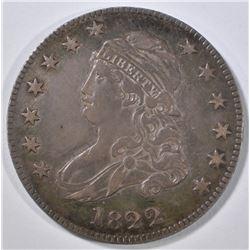 1822 BUST QUARTER CH AU