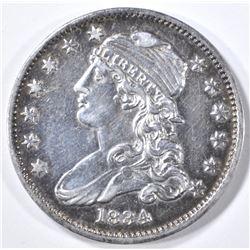 1834 BUST QUARTER AU/BU