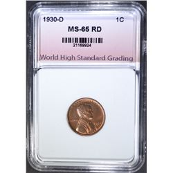 1930-D LINCOLN CENT, WHSG GEM BU RED