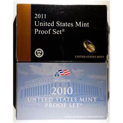2010 & 11 U.S. CLAD PROOF SETS ORIG PACKAGING