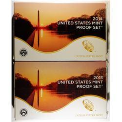 2013 & 14 U.S. CLAD PROOF SETS ORIG PACKAGING