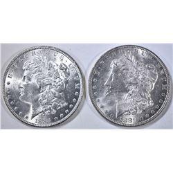 1881 & 1884 BU MORGAN DOLLARS