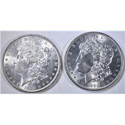 1884 & 1890 BU MORGAN DOLLARS