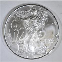 1996 AMERICAN SILVER EAGLE, BU